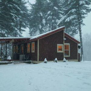 The cabin at Buck run in Winter